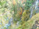 Pohled na kaňon potoka