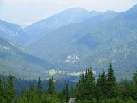 Pohled na nízké Tatry z vrcholu Chopoku