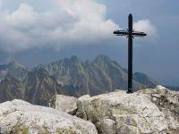 Pohled na Lomnický štít z vrcholu Slavkovského štítu