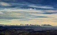 výhled na Vysoké Tatry a Liptovskou Maru z Malinného (Velká Fatra)
