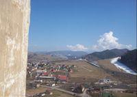 Pohled z Oravského hradu na Vysoké Tatry