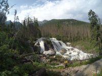 Vodopády Studeného potoka v plné síle.