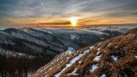 Z pod Kľaku, západ slnka