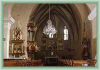 Hrabušice - interiér kostela